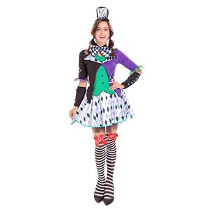 Alice Wonderland Mad Hatter Cosplay Costume N14742