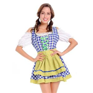 Sexy Maid Costume, Women's Beer Girl Costume, Bavarian Beer Girl Costume, Oktoberfest Wench Adult Dirndl Dress, #N14629