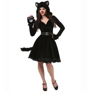 Furry Cat Costume, Cute Cat Costume, Womens Cat Costume, Furry Cat Outfit, Animal Costume, Black Cat Costume, #N14981