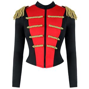 Ring Hottie Costume, Ringmaster Costume, Showstopper Costume,  Tuxedo Tail Jacket, Ceremonial Band Costume, #N12645