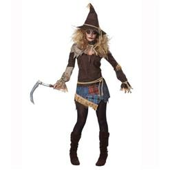 Creepy Scarecrow Costume, Cheap High Quality Costume, Sexy Scarecrow Costume, Hot Selling Halloween Costume, Women's Cosplay Horror Costume, #N14663