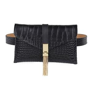 Crocodile Embossed Leather Handbag, Crocodile Embossed PU Leather Purse, Fashion Waist Belt, Waist Belt with Pouch, Waist Pouch Fashion Belt Bags, Waist Belt for Women, Waist Belt with Mini Purse, Casual Travel Waist Belt, Brown Girdle for Women, #N19162