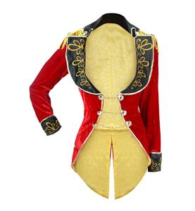 Deluxe Big Top Tease Costume, Red Circus Ring Leader Costume, Deluxe Circus Halloween Costume, Red Swallow-tailed Coat for Women, #N12971