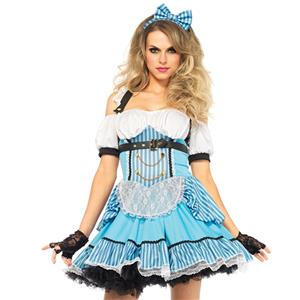 Deluxe Fantasy Alice Costume, Deluxe Alice Costume, Womens Sexy Alice Costumes, Rebel Alice Fancy Costume, #N11909