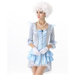 Deluxe Versailles Beauty Costume, Sexy Blue Princess Costumes, Sexy Fairytale Princess Costume, #N12009