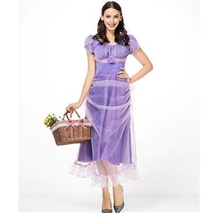 Elegant Adult Princess Cosplay Costume, Deluxe Princess Costume, Princess Cosplay Costume, Elegant Laender Ball Dress Costume, Elegant Purple Mesh Dress Costume, Adult Pantomime Costume,#N18308