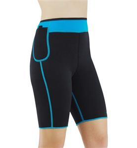 Neoprene Sauna Hot Capri Pants, Neoprene Workout Shorts, Plus Size Neoprene Shorts, Women's Sport Shorts, #N10648