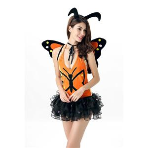 Lovely Monarch Costume, Orange Butterfly Costume, Womens Butterfly Costumes, #N11845