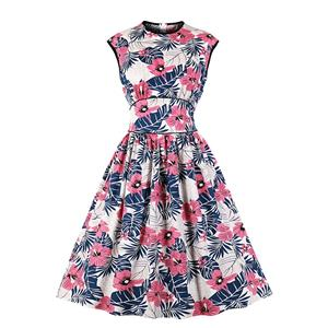 Cute Swing Dress, Retro Dresses for Women 1960, Vintage Dresses 1950's,  Floral Print Summer Dress, Vintage Dress for Women, Vintage Floral Print Dresses for Women, Plus Size Vintage Spring Dresses for Women, #N20953