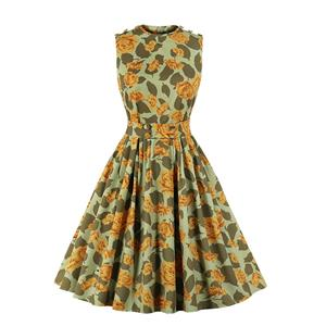 Cute Swing Dress, Retro Dresses for Women 1960, Vintage Dresses 1950's,  Floral Print Summer Dress, Vintage Dress for Women, Vintage Floral Print Dresses for Women, Plus Size Vintage Spring Dresses for Women, #N20968