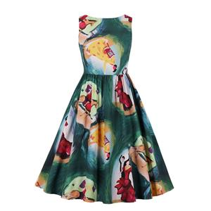 Cute Swing Dress, Retro Dresses for Women 1960, Vintage Dresses 1950's,  Floral Print Summer Dress, Vintage Dress for Women, Fashion Print Dresses for Women, Plus Size Vintage Spring Dresses for Women, #N20981