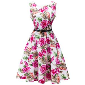 Retro Dresses for Women 1960, Vintage Dresses 1950's, Vintage Dress for Women, Gardon Dresses, Cheap Swing Dress, Floral Print Dress, #N12512