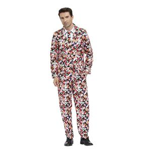 Men's Funny Film Costume, Film Cosplay Costume, Men's Print Suit Costume, Role-palying Costume, Print Personalized Party Suit , Halloween Men Costume,Adult Cosplay Costume, #N20486