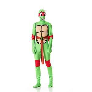 Halloween Funny Costumes, Ninja Cosplay Costume, Green Turtle Cosplay Costume, Turtle Jumpsuit Ninja Halloween Costume, Plus Size Costume, #N18012