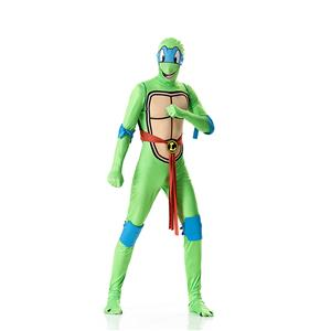 Halloween Funny Costumes, Ninja Cosplay Costume, Green Turtle Cosplay Costume, Turtle Jumpsuit Ninja Halloween Costume, Plus Size Costume, #N18013