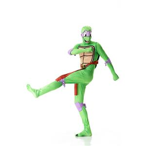 Halloween Funny Costumes, Ninja Cosplay Costume, Green Turtle Cosplay Costume, Turtle Jumpsuit Ninja Halloween Costume, Plus Size Costume, #N18014