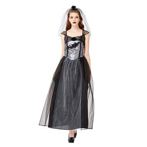 Sexy Gothic Bride Costume, Ghost Bride Role Play Costume, Classical Adult Ghost Bride Halloween Costume, Deluxe Ghost Bride Dress Costume, Vampire Bride Masquerade Costume, Gothic Vampire Bride Adult Cosplay Costume, #N19443
