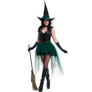 Halloween Costumes, Witch Halloween Costume wholesale, Sexy Witch Costume, Adult Costume, #N11784