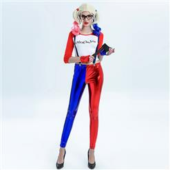 Women's Jester Costume, Clown Cosplay Costume, Batman Harley Quinn Costume Women, Costume, Misfit Hipster Costume, Suicide Squad Costume, #N12699