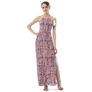 Sexy Summer Beach Dresses, Women's Cocktail Party Dress, Sexy Hippe Maxi Evening Dresses, Loose Waist Cocktail Party Dress, Ceremony Long Dress, Sexy Beachwear Long Dress, #N18766