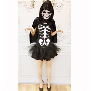 Sexy Halloween Costume, Hot Sale Scary Costume, Cheap Skeleton Costume, Women's Horror Costume, #N14664