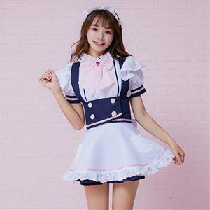 Traditional House Maid Costume, French Maide Costume, Sexy Maiden Cosplay Costume, Adorable Japenese Anime Housemaid Costume, Halloween Maid Cosplay Adult Costume, #N19467