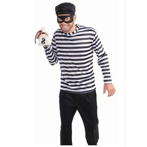 Bank Robbin Cosplay Costume, Sexy Robber Costume for Men, Sexy Money Robber Halloween Costume, Robbin Bandit Adult Cosplay Costume, #N17743