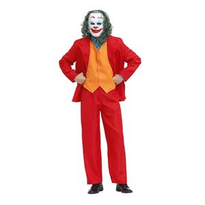 Men's Scary Movie Costume, Scary Movie Cosplay Costume, Horrible Deluxe Joker Movie Suit Costume Men, Scary Role-palying Costume, Halloween Men Horrible Costume, #N20490