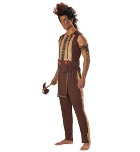 Men's Halloween Costume, Cheap Men's Indian Costume, Adult Native American Warrior Costume, Indian Costume for Mens, #N10957