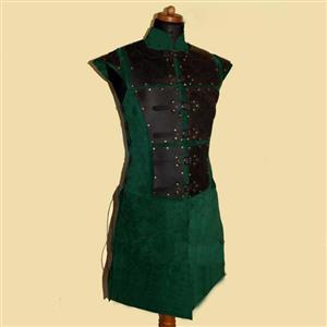 Steampunk Tunic for Men, Men's Medieval Knight PU Armour, Sexy Clubwear for Men, Halloween Costumes, Men's Sexy Costume, Men's Corset, Sexy Club Wear for Men, #N19970