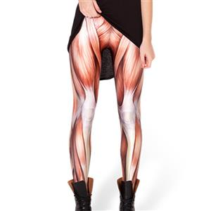 Sexy Muscle Printing Jeans, Muscle Tattoo printed Leggings, Universe Galaxy Printing Jeggings, #L12726