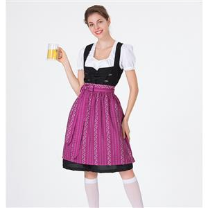 Traditional Bavarian Beer Girl Role Play Dress Adult Oktoberfest Costume N18313