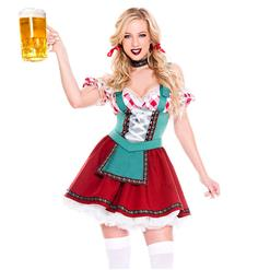 Oktoberfest Cheer Costume, Women's Beer Girl Costume, Bavarian Beer Girl Costume, Traditional Bavarian Girl Costume, Oktoberfest Fraulein Dress Costume, #N18681