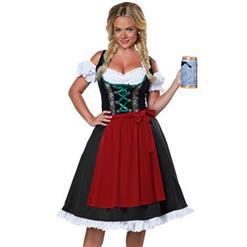 Oktoberfest Cheer Costume, Women's Beer Girl Costume, Bavarian Beer Girl Costume, Traditional Bavarian Girl Costume, Oktoberfest Fraulein Costume, #N16005