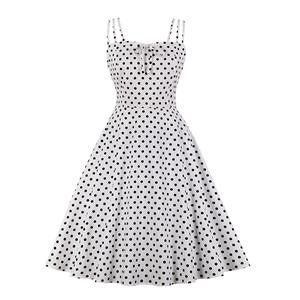 Lovely Polka Dots Mini Dress, Vintage Polka Dots Cocktail Party Dress, Fashion Casual Office Lady Dress, Sexy Tea Party Dress, Retro Party Dresses for Women 1960, Vintage Dresses 1950's, Plus Size Dress, Sexy OL Dress, Vintage Party Dresses for Women, Sexy Spaghetti Straps Dress for Women, #N20161