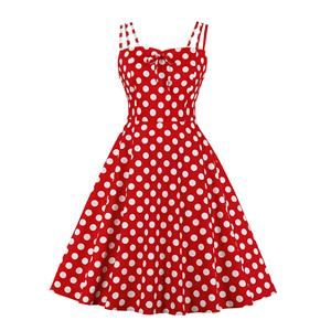 Lovely Polka Dots Mini Dress, Vintage Polka Dots Cocktail Party Dress, Fashion Casual Office Lady Dress, Sexy Tea Party Dress, Retro Party Dresses for Women 1960, Vintage Dresses 1950's, Plus Size Dress, Sexy OL Dress, Vintage Party Dresses for Women, Sexy Spaghetti Straps Dress for Women, #N20162