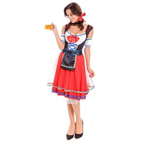 Sexy Maid Costume, Women's Beer Girl Costume, Bavarian Beer Girl Costume, Oktoberfest Wench Adult Dirndl Dress, Oktoberfest Beer Babe Costume, #N14617