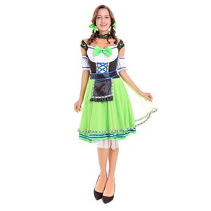 Sexy Maid Costume, Women's Beer Girl Costume, Bavarian Beer Girl Costume, Oktoberfest Wench Adult Dirndl Dress, Oktoberfest Beer Babe Costume, #N14619