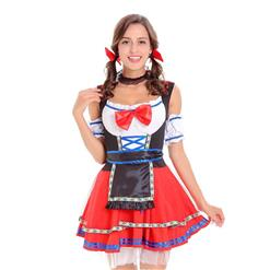 Sexy Maid Costume, Women's Beer Girl Costume, Bavarian Beer Girl Costume, Oktoberfest Wench Adult Dirndl Dress, Oktoberfest Beer Babe Costume, #N14616