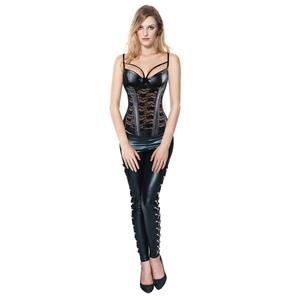 Steampunk Corset Pant Set for Women Sexy, Steampunk Outfit for Women, Two-piece Gothic Punk Costume, Sexy Punk Clothing for Women, #N12771