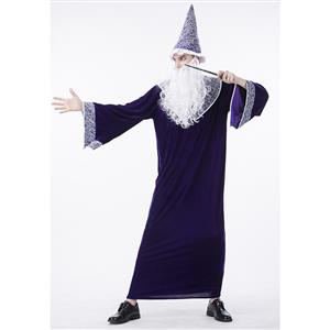 Premier Dark Sorcerer Costume, Premier Dark Sorcerer Adult Costume, Dark Sorcerer Adult Costume, Wizard Adult Costume, Wizard Costume for Men, #N14762