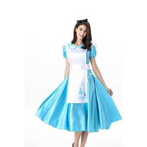 Sexy Alice Wonderland Costume, Ladies' Wonderland Alice Liddle Costume, Music Legs Alice Liddle Costume, Alice Attached Apron Costume, #N11675