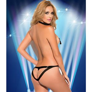 Sexy Black Bandage Teddy Lingerie with Pasties N11572