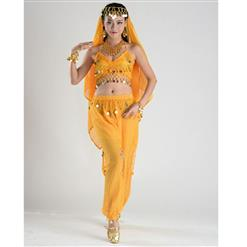 Sexy Genie Costume, Lamp Fancy Dress Costume, Women's Genie Halloween Costume,Sexy Belly Dance Costume, Sexy Pewrsia Dancer Costume, #N18891