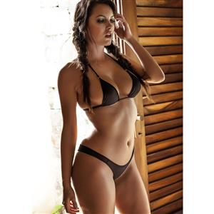 Sexy Black Triangular Bikini Set BK12351