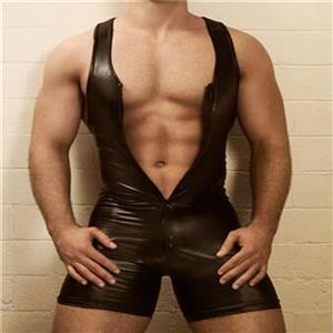 Flirting PVC Bodysuit Lingerie, Men's Sexy Suit, Sexy Male Clothing, Men's PVC  Bodysuit, Secy PVC Lingerie Male, Black PVC Undershirt, Hot Sexy Lingerie for Men, #N19001