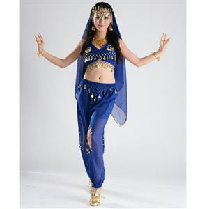 Sexy Genie Costume, Lamp Fancy Dress Costume, Women's Genie Halloween Costume,Sexy Belly Dance Costume, Sexy Pewrsia Dancer Costume, #N18892