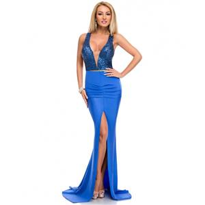 Cheap Clubwear Dress, Fashion Blue Gown, Hot Sale Sleeveless Dress, Evening Party Dress, Sexy Long Gown For Women, #N12633