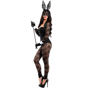 Sexy Bunny Lace Keyhole Jumpsuit Costume N11359
