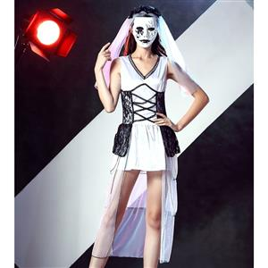 Day of Death Costume, Cheap Halloween Costume, Bride Costume, #N12005
